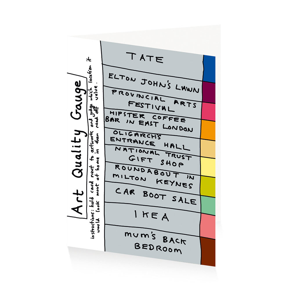 Grayson perry art quality gauge greetings card royal academy of grayson perry art quality gauge greetings card royal academy of arts kristyandbryce Gallery