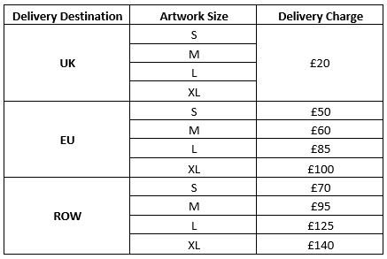 Art Sales Delivery Charges