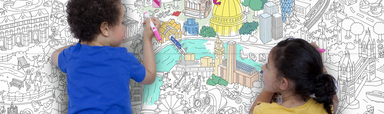 Royal Academy of Arts Kids Creative Play Colour Poster London